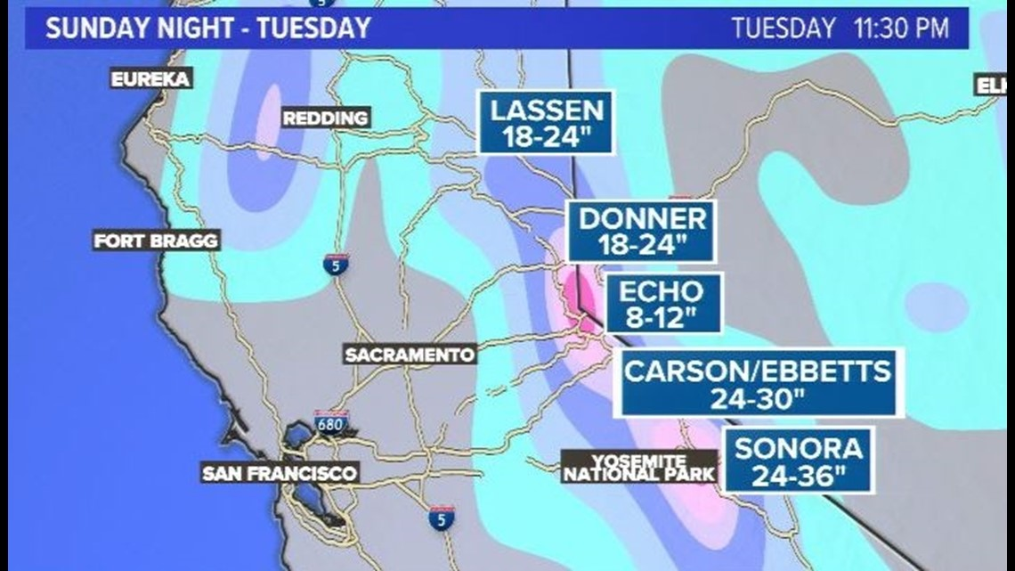 Heavy rain expected for incoming Northern California storms