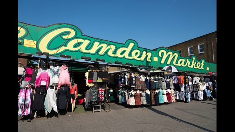 <p>A fire broke out in Camden Market in London on Sunday night, according to officials.</p>