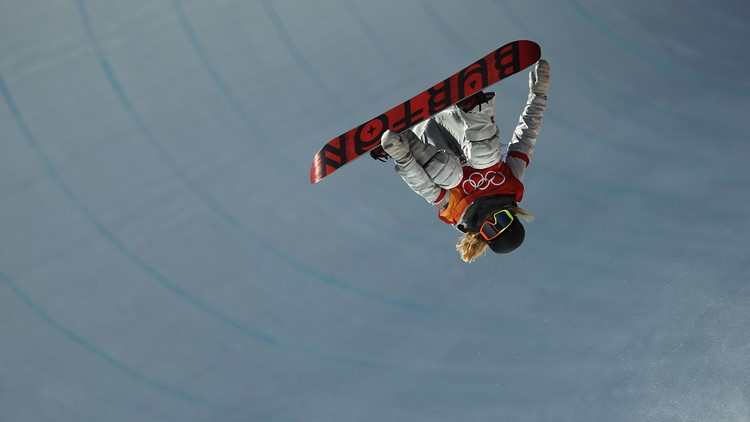 Chloe Kim of the United States during the Snowboard Ladies' Halfpipe Final on day four of the PyeongChang 2018 Winter Olympic Games at Phoenix Snow Park on February 13, 2018 in Pyeongchang-gun, South Korea.