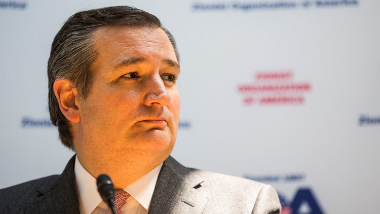 During a political rally in Katy, Texas, Sen. Ted Cruz warned Democrats want to turn Texas into a liberal state like California, 'right down to tofu and silicon and dyed hair.'