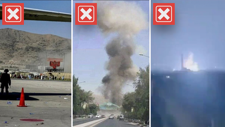 No, these images and video do not show the explosions near Kabul's airport