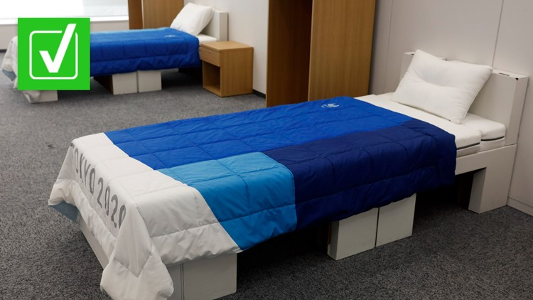 Yes, the bed frames at the Olympic Village are made from cardboard but they aren't 'anti-sex'