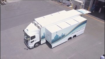 Mobile mosque to help Muslims pray at Tokyo Olympics