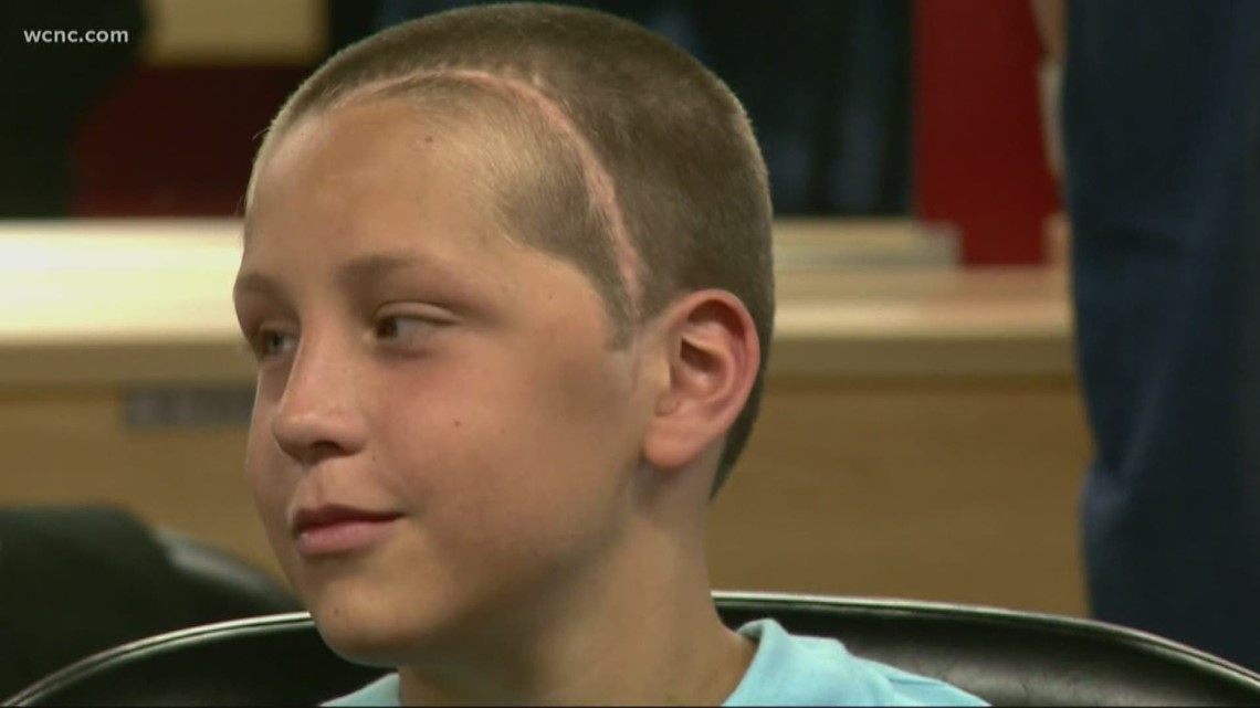 Make A Wish Kid Ready For Tropical Vacation After Getting Buzz Cut Abc10 Com