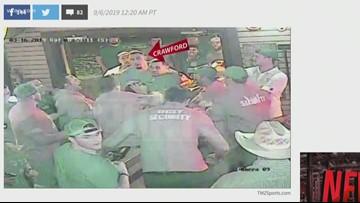 Video released by TMZ shows Dallas Cowboys DT Tyrone Crawford in bar brawl