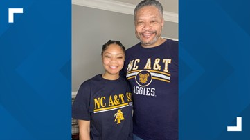 'They'll be looking down on us' | Father, daughter to graduate on Mother's Day after overcoming double loss