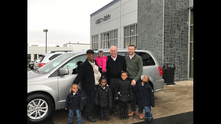 Buffalo father gets a new van after adopting 5 children