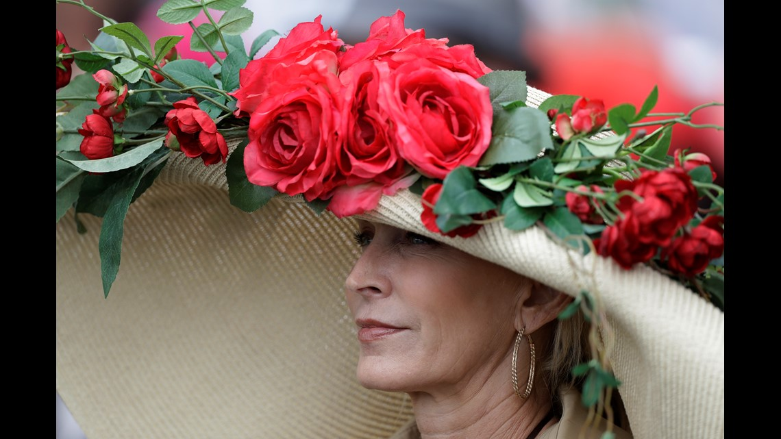 08f27e6375 A woman wears a hat before the 145th running of the Kentucky Derby horse  race at Churchill Downs Saturday