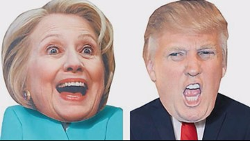 Disguise yourself as Donald Trump or Hillary Clinton