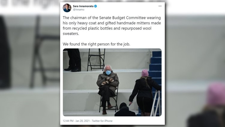 I Was Just Sitting There Trying To Keep Warm Bernie Sanders Responds To Incredible Mitten Memes 13newsnow Com