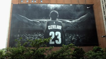 Nike will take down LeBron James billboard on Sherwin-Williams building this week