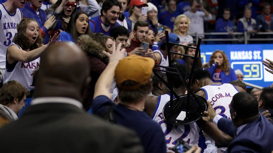 WATCH | Ugly brawl breaks out at end of Kansas State-Kansas game
