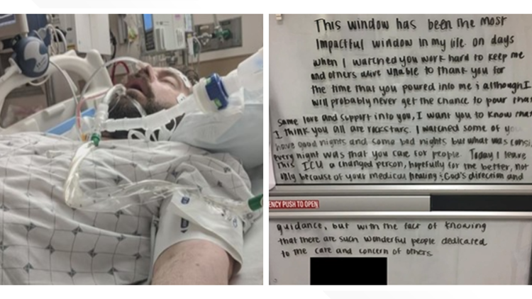COVID-19 patient who left heartwarming note for clinic caregivers shares story of survival