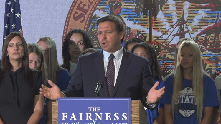 Florida governor signs law banning transgender athletes from school sports