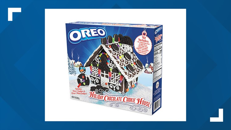 oreo holiday chocolate cookie house