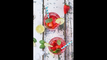 Refreshing strawberry-watermelon smash