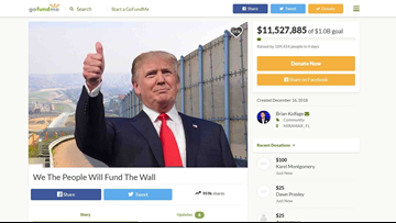 VERIFY: Here's why the $1 billion #GoFundTheWall campaign probably won't fund the border wall