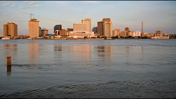 New Orleans fears triple threat of storm surge, river, rain