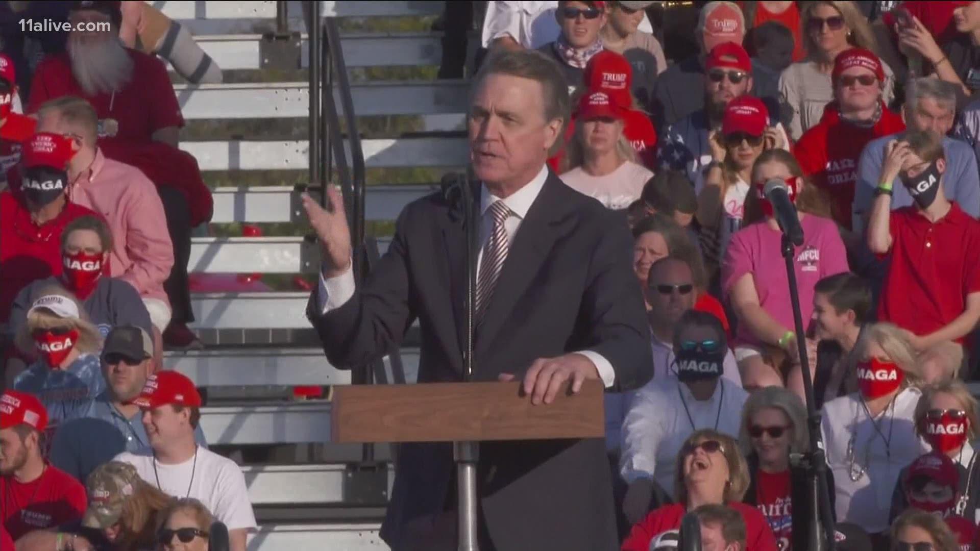David Perdue Mispronounces Kamala Harris Name At Trump Rally Abc10 Com