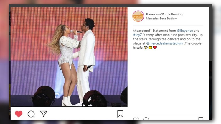 Video: Man rushes stage during Saturday night's Beyonce, Jay-Z concert in Atlanta