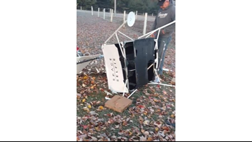 'You never know what's going to happen' | Michigan family surprised when satellite crashes onto their property